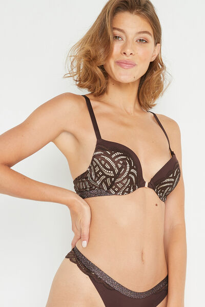 SOUTIEN-GORGE PUSH-UP CHOCOLAT